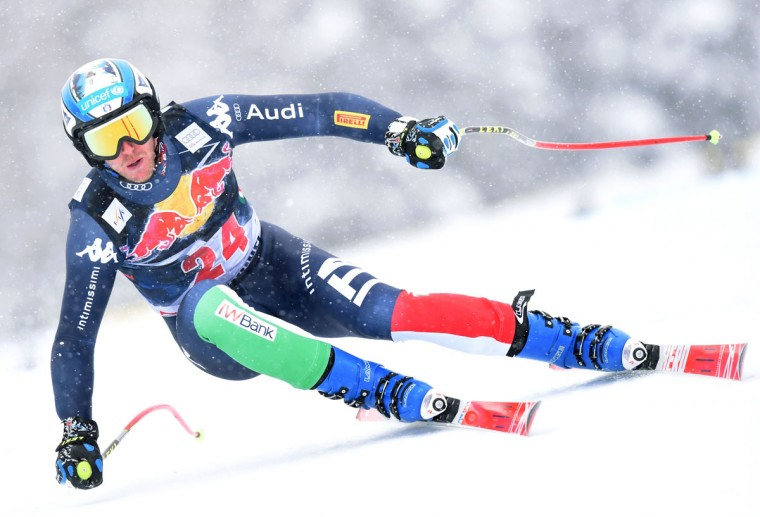 Werner Heel from Italy competes during the FIS Alpine Ski World Cup Men's Downhill on January 23, 2016 in Kitzbuehel, Austria. (CHRISTOF STACHE/AFP/Getty Images)