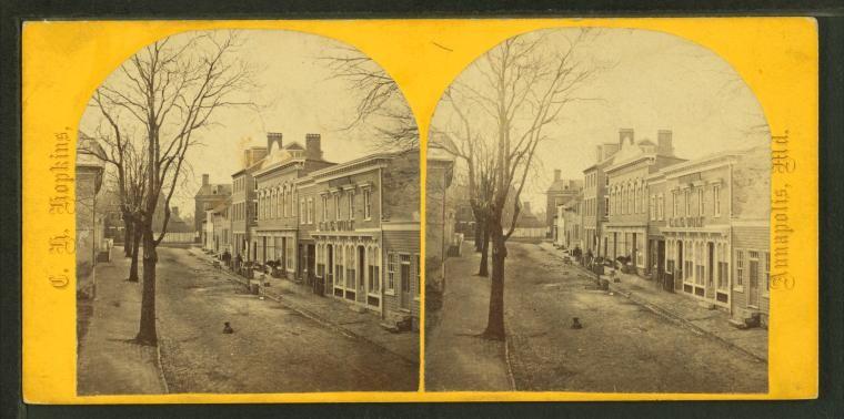 Conduit Street, Annapolis, 1868