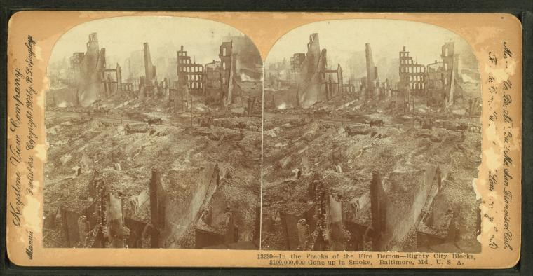 Great Baltimore Fire of 1904 destruction