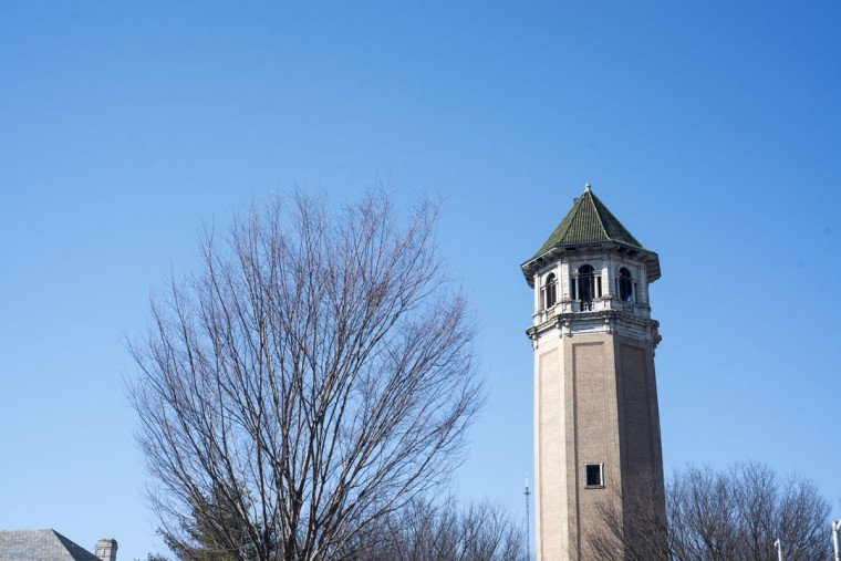 The Roland Park Water Tower, originally built in 1904-05 to provide water to the adjacent areas. (Emma Patti Harris/Baltimore Sun)