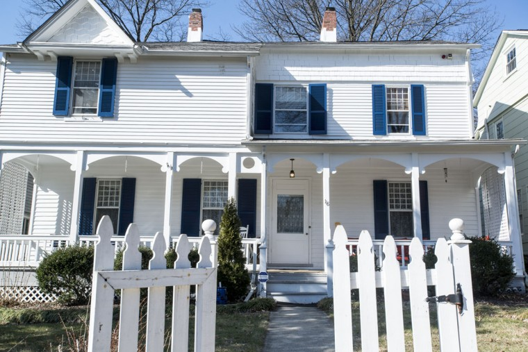 118 and 120 Hawthorn Road are believed to be the first houses built in Roland Park. (Emma Patti Harris/Baltimore Sun)