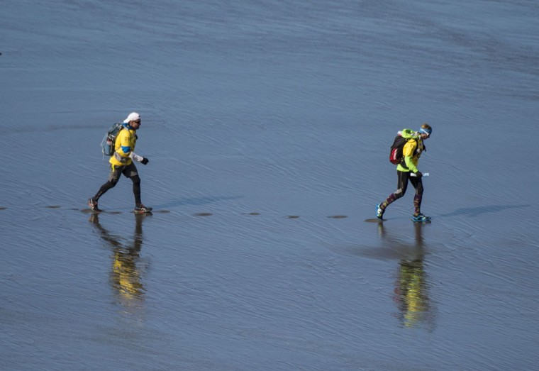 British Godzone Adventure Team competes in the Patagonian Expedition Race, in the southern Chilean Patagonia, near Punta Dungenes on February 16, 2016. (MARTIN BERNETTI/AFP/Getty Images)