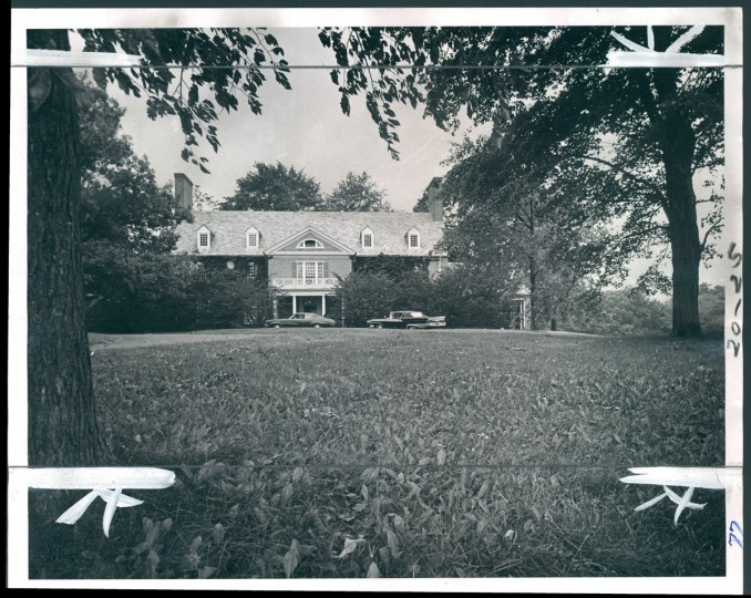 This 26-room mansion in the Poplar Hill section of Roland Park has been acquired by Boys Latin School. (Baltimore Sun photo, July 26, 1970)