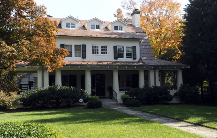This is the exterior of the dream home of Amy and Tim Askew, which is in Roland Park. (Baltimore Sun photo by Barbara Haddock Taylor, Oct. 24, 2012)