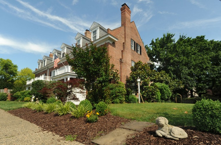 Jim and Debby Naylor moved to this 5-bedroom attached house in Roland Park after their children were grown. (Amy Davis / Baltimore Sun / June 9, 2015)
