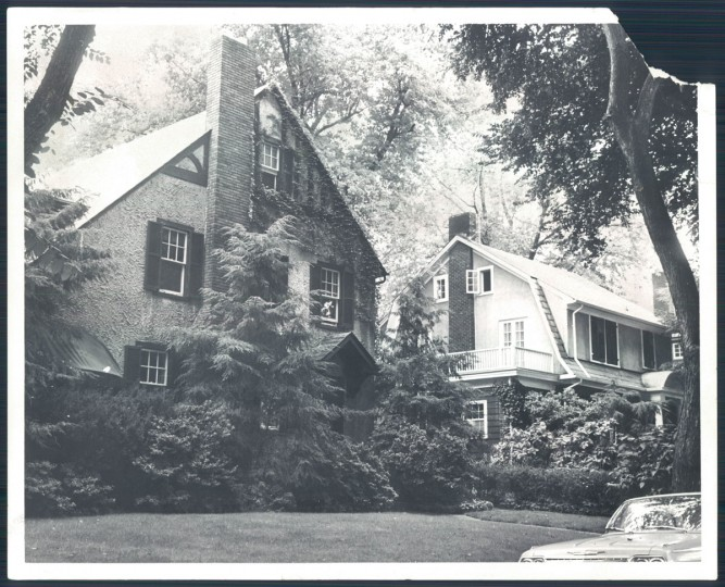 A view of a Roland Park home at Atwick Road on Aug. 5,1967. (Baltimore Sun photo)