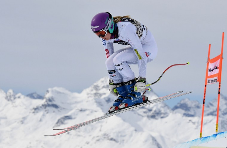 Laurenna Ross of the US in action during the Audi FIS Alpine Skiing World Cup downhill training on March 15, 2016 in St Moritz, Switzerland. (Photo by Matthias Hangst/Getty Images)