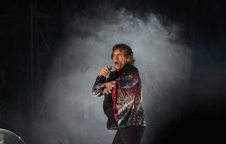 British singer and frontman of rock band The Rolling Stones Mick Jagger performs during a concert at Ciudad Deportiva in Havana, Cuba, on March 25, 2016. (AFP PHOTO/ YAMIL LAGE)