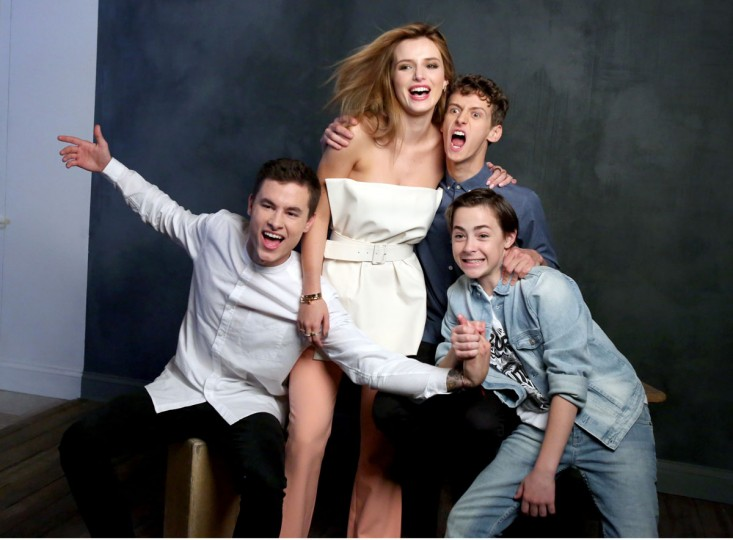 Actors Kian Lawley, Bella Thorne, Philip Labes, and Anton Starkman attend The Samsung Studio at SXSW 2016 on March 14, 2016 in Austin, Texas. (Photo by Jonathan Leibson/Getty Images for Samsung)