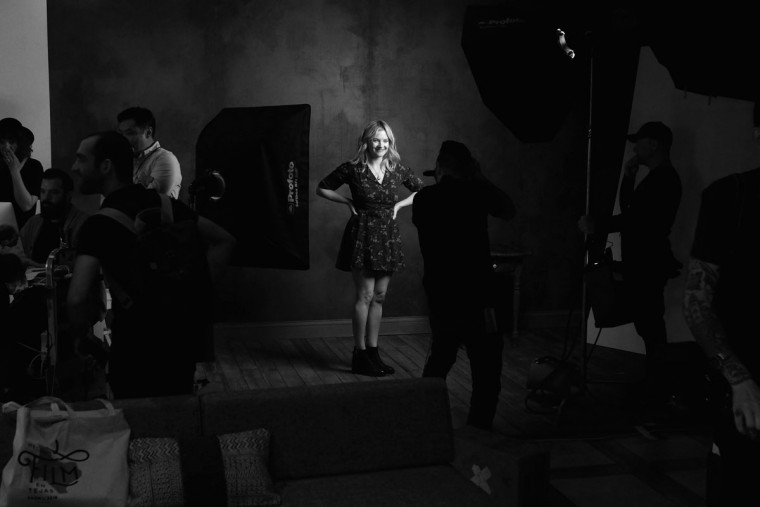 Actress Kristin Slaysman of 'Little Sister' is seen behind the scenes in the Getty Images SXSW Portrait Studio on March 12, 2016 in Austin, Texas. (Dave Mangels/Getty Images for Samsung)