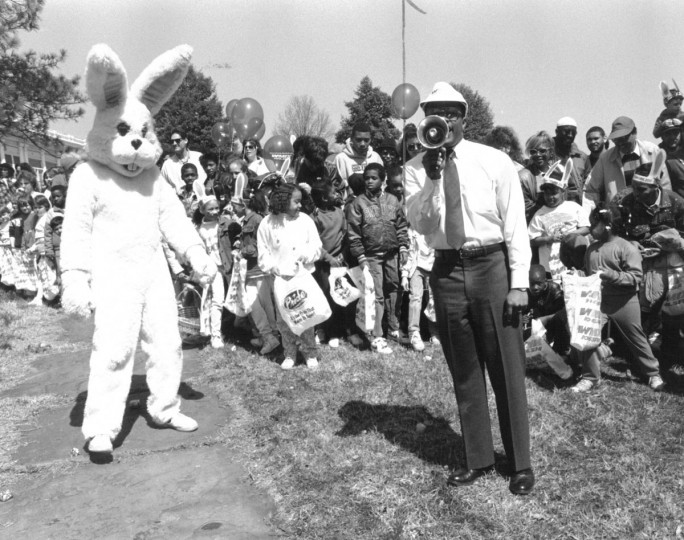 Easter Bunny, 1991. (Baltimore Sun archives)
