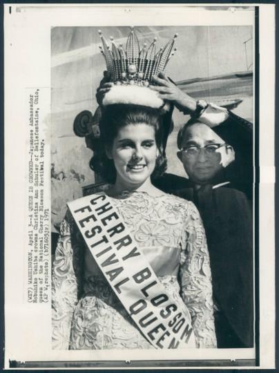 Christina Ann Schüler of Bellefontaine, Ohio, Queen of National Cherry Blossom Festival. (1971)