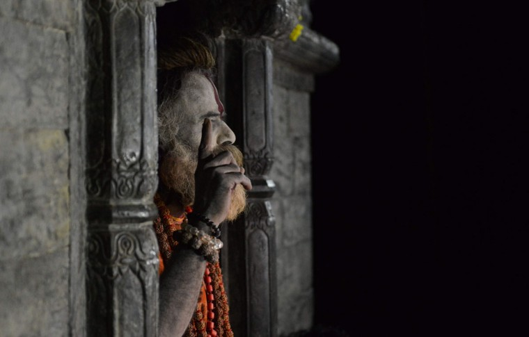 A Sadhu (Hindu holy man) poses near the Pashupatinath Temple in Kathmandu on on March 6, 2016, on the eve of the Hindu festival Maha Shivaratri. Hindus mark the Maha Shivratri festival by offering special prayers and fasting. (PRAKASH MATHEMA/AFP/Getty Images)
