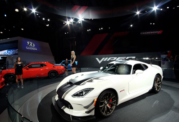 The Dodge Viper is pictured during the New York International Auto Show on March 24, 2016. (JEWEL SAMAD/AFP/Getty Images)