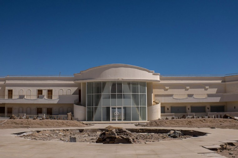 A resort building is seen under construction in the resort town of Naama Bay on April 1, 2016 in Sharm El Sheikh, Egypt. Prior to the Arab Spring in 2011 some 15million tourists would visit Egypt each year. The resort town of Sharm El Sheikh was built around tourism however tourist numbers have plummeted after recent terrorist attacks with flights from major UK carriers being suspended and foreign offices around the world warning citizens of the 'High threat from terrorism' Sharm El Sheikh is almost a ghost town, with many resorts being abandoned and business forced to close. (Photo by Chris McGrath/Getty Images)