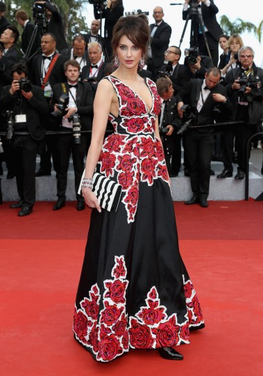 """CANNES, FRANCE - MAY 11: French actress Frederique Bel attends the """"Cafe Society"""" premiere and the Opening Night Gala during the 69th annual Cannes Film Festival at the Palais des Festivals on May 11, 2016 in Cannes, France. (Photo by Andreas Rentz/Getty Images)"""