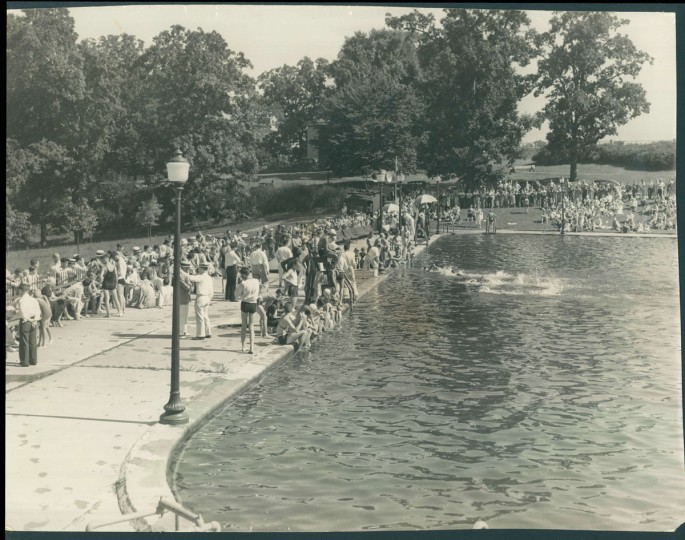 Druid Hill Park Springs Swimming Pool, August 16, 1937. (Baltimore Sun)