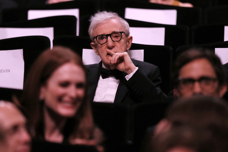 """US director Woody Allen attends on May 11, 2016 the opening ceremony of the 69th Cannes Film Festival, southern France, before the screening of his film """"Cafe Society"""". / AFP PHOTO / Valery HACHEVALERY HACHE/AFP/Getty Images"""