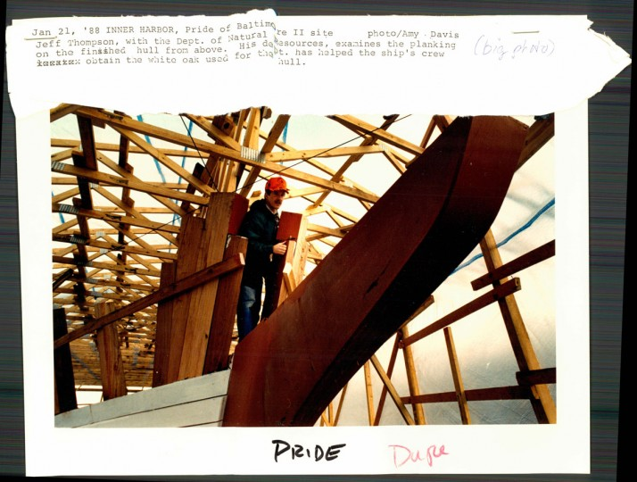 Construction of the Pride of Baltimore II.