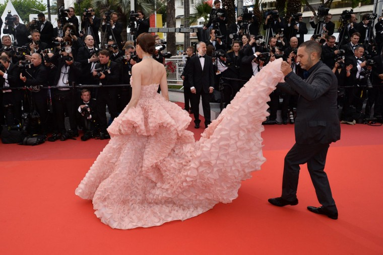 British-Thai actress Araya Hargate arrives on May 11, 2016 for the opening ceremony of the 69th Cannes Film Festival in Cannes, southern France. / AFP PHOTO / ALBERTO PIZZOLIALBERTO PIZZOLI/AFP/Getty Images