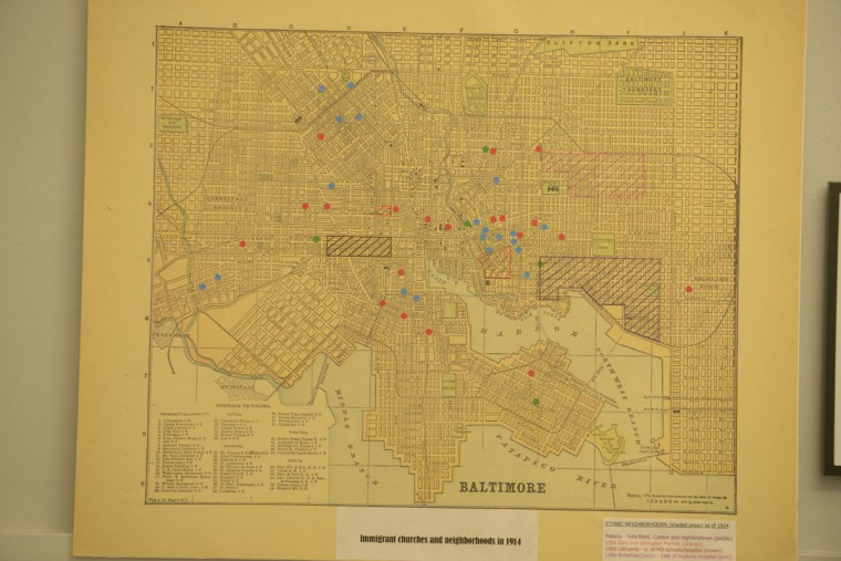 A map of Baltimore in the early 1900s shows the patterns of immigrant settlement in the city. For certain ethnic groups like Czechs and Irish, the area of settlement was rigidly confined to a particular area. Other groups like Germans were more dispersed throughout the city. (Christina Tkacik/Baltimore Sun).