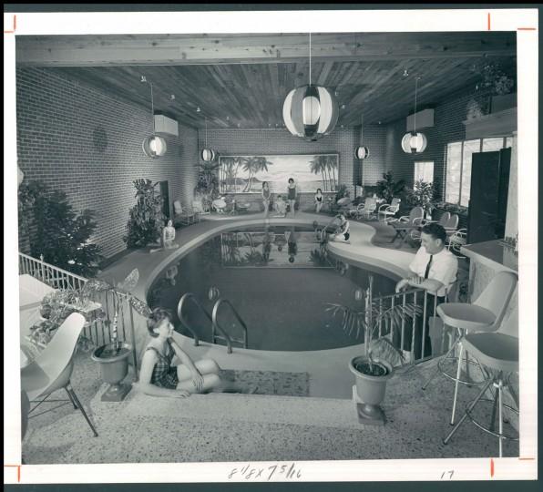 Private swimming pool, June 21, 1964. (STACKS/Baltimore Sun)
