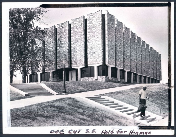 "The ""new"" administration building at Morgan State University, 1964."