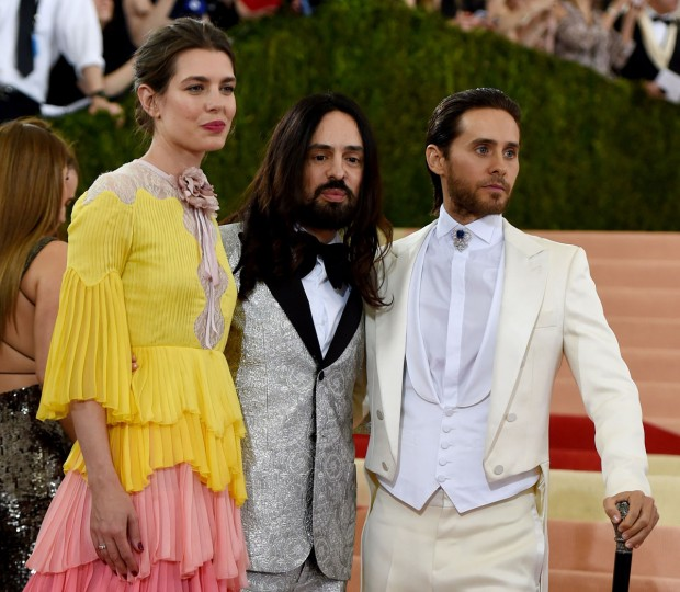 Monaco's Princess Charlotte Casiraghi and Jared Leto (R) arrive for the Costume Institute Benefit at The Metropolitan Museum of Art May 2, 2016 in New York.