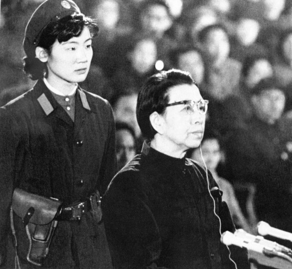In this file photo taken Dec. 5, 1980, Mao Zedong's widow Jiang Qing sits in the defendant's box during her trial for various crimes committed during China's violent 1966-76 Cultural Revolution. Jiang claimed she was being scapegoated for implementing Mao's directives that resulted in the persecution of millions. On May 16, 1966, the Communist Party's Politburo produced a document announcing the start of what was formally known as the Great Proletarian Cultural Revolution to pursue class warfare and enlist the population in mass political movements. Launched by leader Mao Zedong, it set off a decade of tumult to revive communist goals and enforce a radical egalitarianism. (AP Photo, File)
