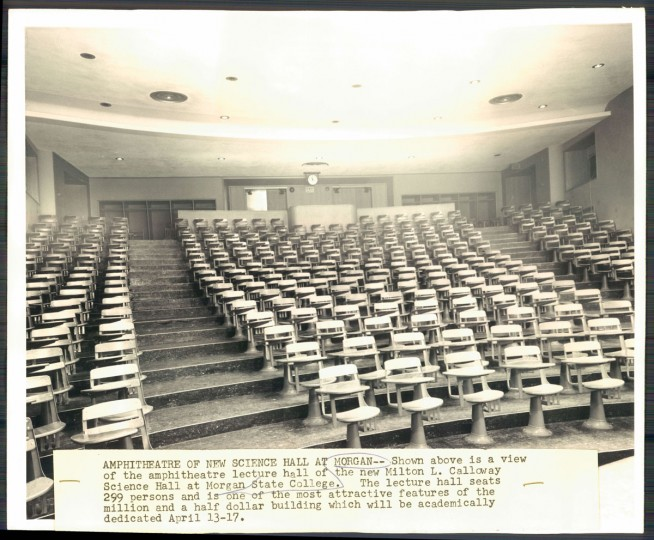 Milton L. Calloway Science Hall, 1955.