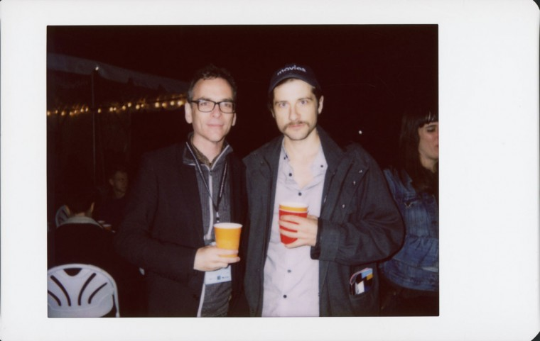 """Matt Grady (right) is head of film distribution Factory 25; Kentucker Audley is a multi-film alum of the festival, including titles """"Sun Don't Shine"""" and """"Christmas, Again"""""""