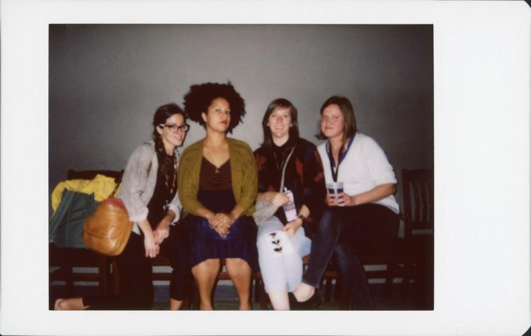 Mikey Hess Webber, Emily Slaughter (MDFF screening committee member), Angie Elliott and Bonnie Veronda