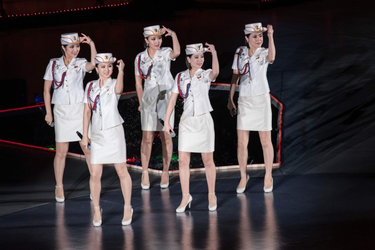 North Korea's all-female Moranbong Band perform in Pyongyang on May 11, 2016. (ED JONES/AFP/Getty Images)
