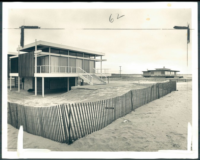 Rehoboth has resisted the trend to build motels and amusement parks, but many homes of glass and natural wood have gone up along beach and around town. May 17, 1964. (Klender/Baltimore Sun)