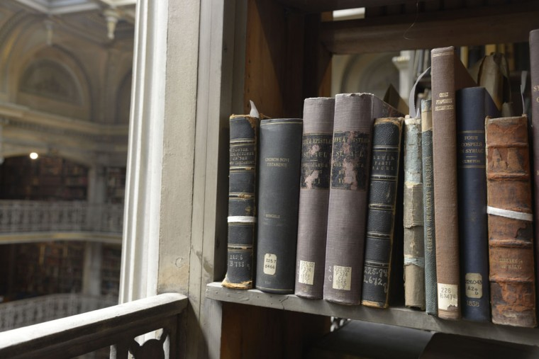 The Peabody Library's primary collection includes books from 1700 up to the 1940s and 1950s. Some books on the sixth floor cover quasi-spiritual topics like voodoo, witchcraft and life after death. (Christina Tkacik/Baltimore Sun)