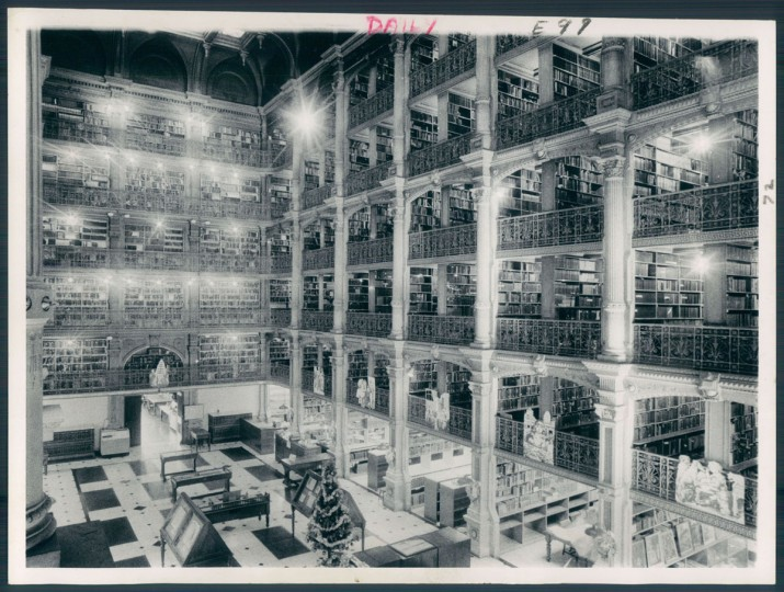 January 2, 1973 photo of the Peabody Institute Library. (William H. Mortimer/Baltimore Sun)