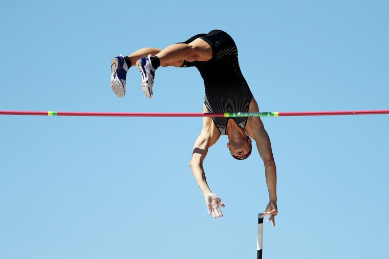 Sam Kendricks competes on his way to placing first in the Men's Pole Vault Final during the 2016 U.S. Olympic Track & Field Team Trials at Hayward Field on July 4, 2016 in Eugene, Oregon. (Photo by Patrick Smith/Getty Images)