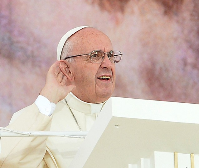 Pope Francis opens the World Youth Days at Blonia Park in Krakow, Poland. (JANEK SKARZYNSKI/AFP/Getty Images)