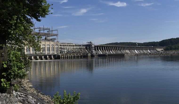 This is a view of the Exelon Conowingo dam and Hydroelectric Plant, which has been producing electricity on the Susquehanna River since 1928. (Barbara Haddock Taylor, Baltimore Sun)