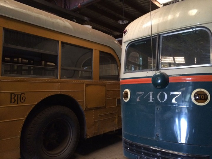 The Streetcar Museum's holdings include the 7407, pictured right, which was the last streetcar to run in Baltimore in November, 1963. Jerry Kelly, who now works at the Museum, rode the train from 6 pm til 6 am on its last hours of operation. (Christina Tkacik/Baltimore Sun)