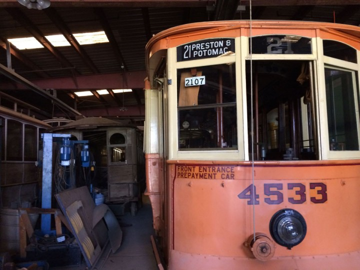 The Streetcar Museum on Jones Falls Road is celebrating its 50th anniversary this year. (Christina Tkacik/Baltimore Sun)
