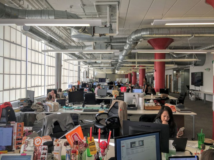 I love the open office concept because everyone collaborates and bounces ideas off of each other. The Can Company, where OrderUp's headquarters is, is an awesome, bright space.