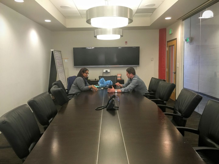 More meetings to make sure that the Baltimore area has the best restraurants on OrderUp. This conference room is called State College; all of our conference rooms are named after our founding markets.