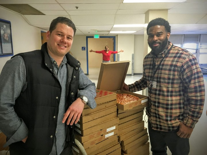 Baltimore City Public Schools were excited for pizza!