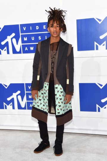 Jaden Smith attends the 2016 MTV Video Music Awards at Madison Square Garden on August 28, 2016 in New York City. (Photo by Jamie McCarthy/Getty Images)