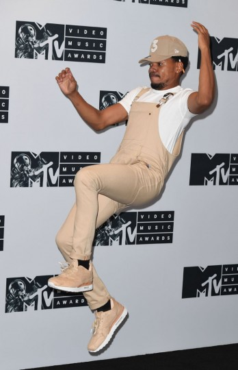 Chance the Rapper appears in the press room during the 2016 MTV Video Music Awards on August 28, 2016 at Madison Square Garden in New York. (Angela Weiss/AFP/Getty Images)