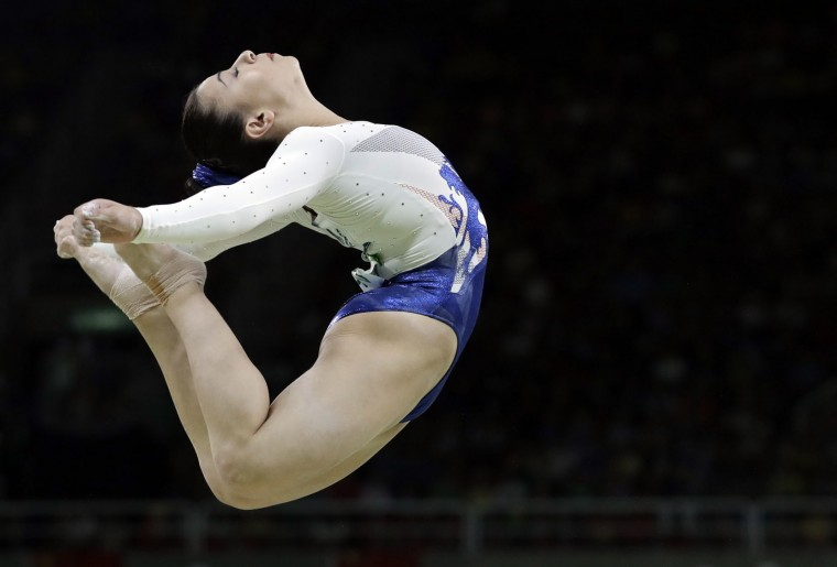 Britain's Claudia Fragapane performs on the balance beam during the artistic gymnastics women's team final at the 2016 Summer Olympics in Rio de Janeiro, Brazil, Tuesday, Aug. 9, 2016. (AP Photo/Rebecca Blackwell)