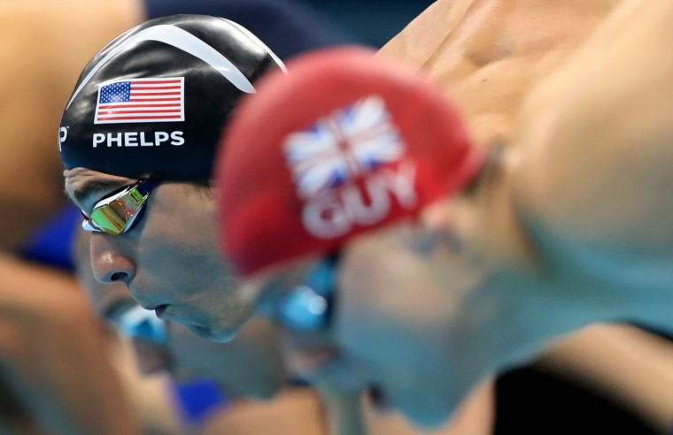 United States' Michael Phelps competes in a semifinal of the men's 100-meter butterfly during the swimming competitions at the 2016 Summer Olympics, Thursday, Aug. 11, 2016, in Rio de Janeiro, Brazil. (AP Photo/Lee Jin-man)