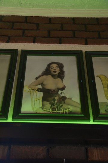 A photo of Blaze Starr remains on the wall at Midway, one of the older bars still in operation on the Block. (Christina Tkacik/Baltimore Sun)