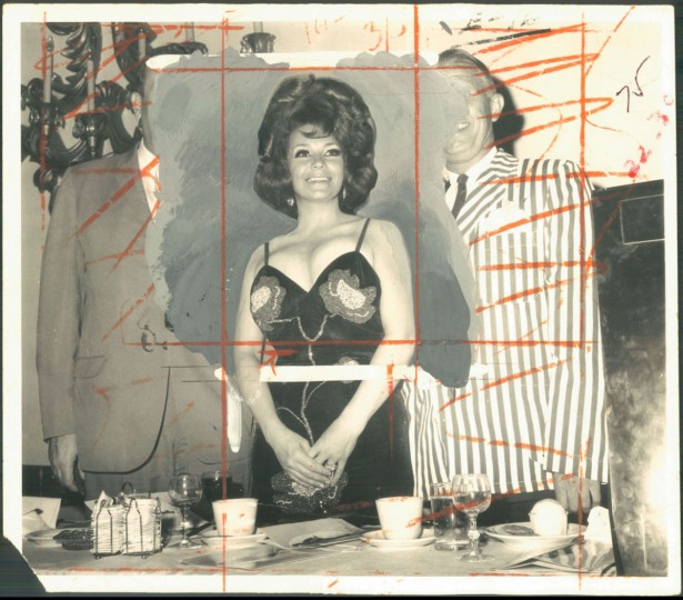 May 24, 1969 - ST. BLAZE -- Baltimore's world renowned stripper, Blaze Starr, was lampoomed yesterday by Saints and Sinners, a group that delights in debunking local figures. Standing next to Miss Starr's figure is James White (left) and William Bittorf, officials of the organization. Photo by Frank Gardina